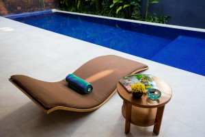 16. Sun chair by the private pool